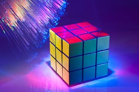 cubo: Primer plano de Cubo de Rubik Editorial