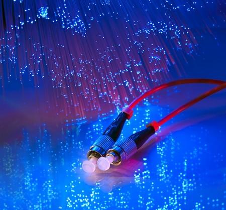 fiber cable: glasvezelkabel Stockfoto