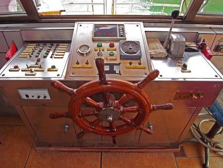 wheelhouse: wheelhouse of the ship Stock Photo