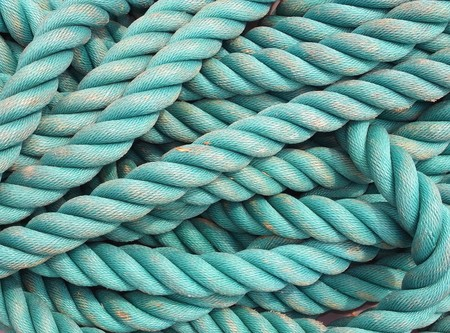 blue rope texture Stock Photo
