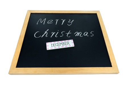 Christmas on a blackboard