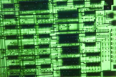 electronic board: Blank green electronic board