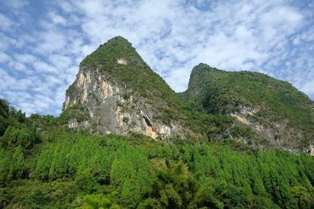 Beautiful Karst mountain landscape in Yangshuo Guilin, China Stock Photo - 8413967