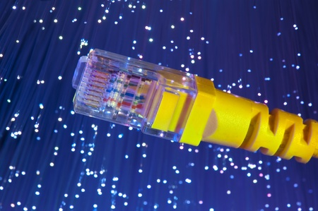 fiber optical network cable Stock Photo - 8413735
