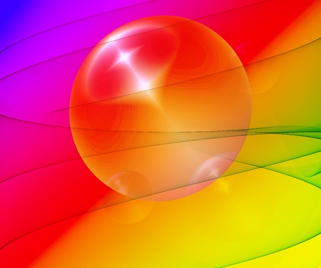 bengal light: abstract background with light and bubble Stock Photo