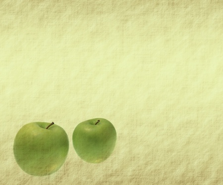 grunged: apple on grunged paper background