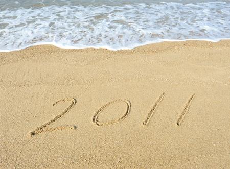 2011 year on sand  photo
