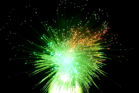 fiber optical picture with details and light effects Stock Photo - 8613554