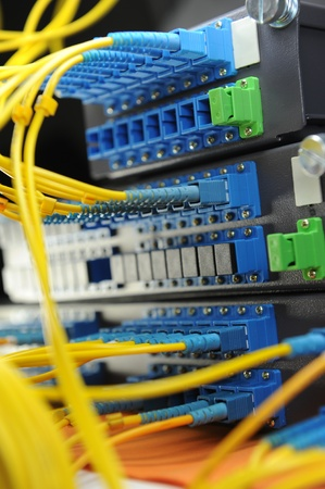 shot of network cables and servers in a technology data center Stock Photo - 8944097