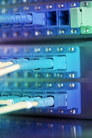 shot of network cables and servers in a technology data center Stock Photo - 8944022
