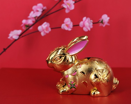 greeting for Chinese Rabbit New Year Stock Photo - 8944060