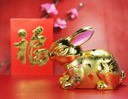greeting for Chinese Rabbit New Year 2011 Stock Photo - 9042126