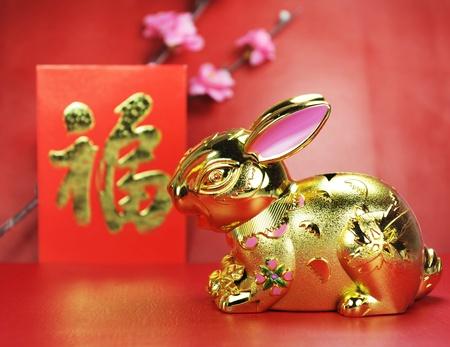greeting for Chinese Rabbit New Year 2011  photo