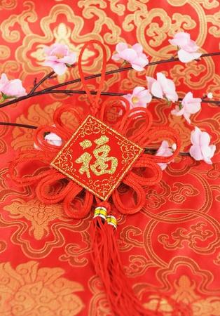 flores chinas: Regalo de China durante el festival de primavera   Foto de archivo