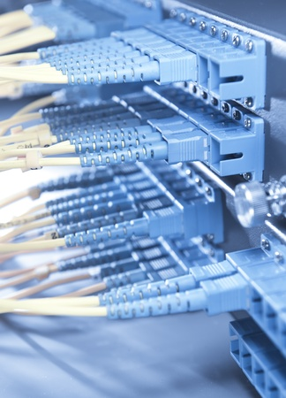 shot of network cables and servers in a technology data center Stock Photo - 9104341