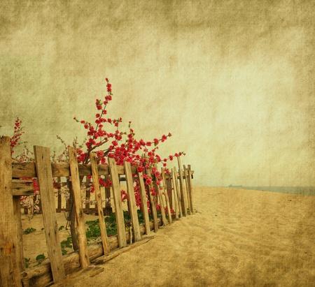 begining: fiore di pesco in fiore sullo sfondo astratta Grunge