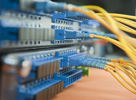 shot of network cables and servers in a technology data center   photo