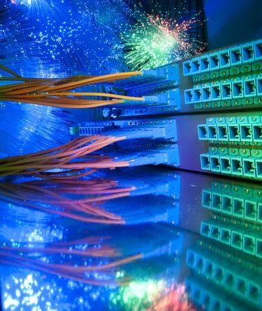 shot of network cables and servers in a technology data center Stock Photo - 9272849