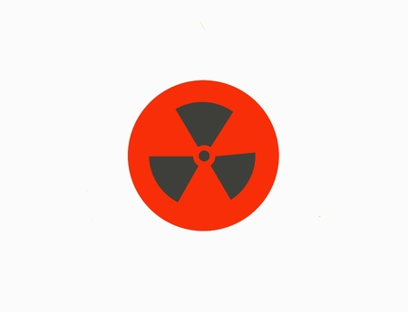 radioisotope: Closeup of nuclear sign