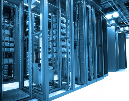 communication and internet network server room Stock Photo - 9370367
