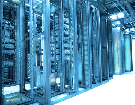 communication and internet network server room Stock Photo - 9369703