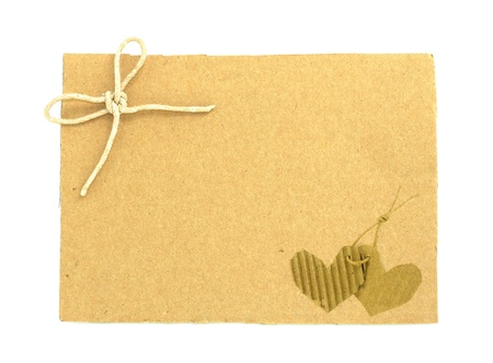 Blank tag tied with brown string Stock Photo - 9655583