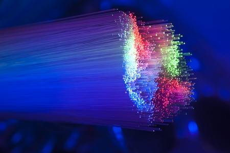trafficabstract: fiber optical picture with details and light effects