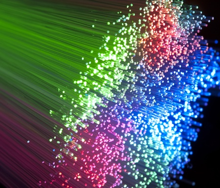 fiber optical picture with details and light effects photo