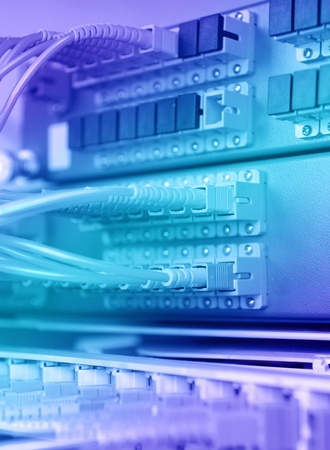 communication and internet network server room  Stock Photo - 9812555