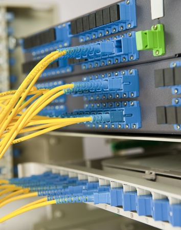 communication and internet network server room photo