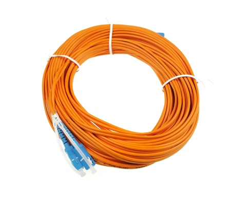 fiber optical network cable Stock Photo - 9784391