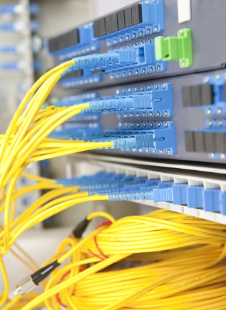 communication and internet network server room Stock Photo - 9773351