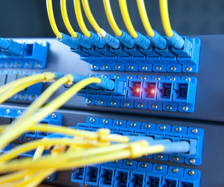 network server: communication and internet network server room Stock Photo