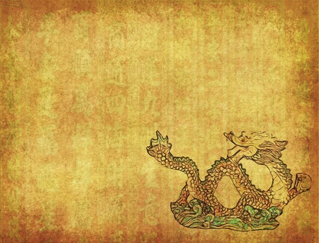 Chinese Dragon and texture background photo