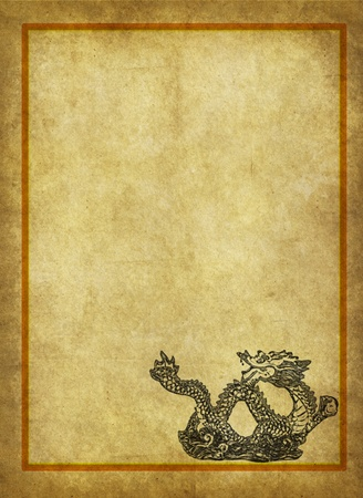 Dragon and texture background   photo