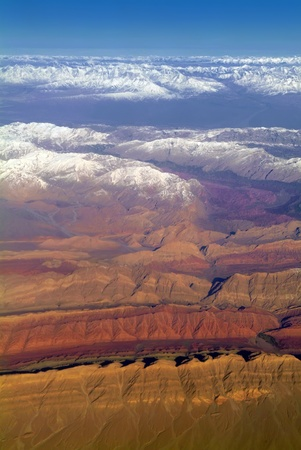 Aerial shot of the west china of Qinghai geology park photo