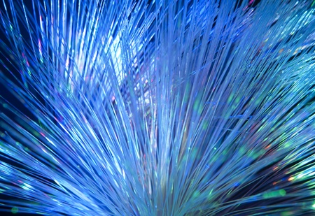 trafficabstract: Fiber optics background with lots of light spots