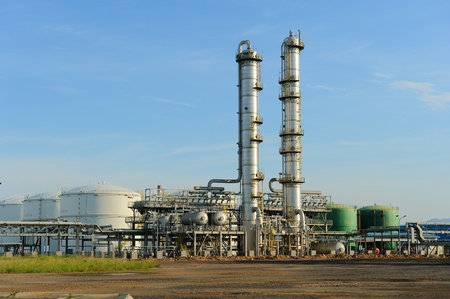 tall chimney: gas processing industry