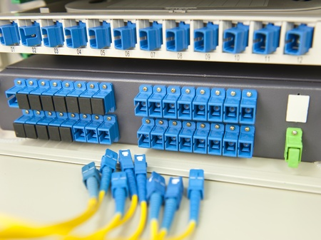 communication and internet network server room Stock Photo - 10396425