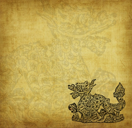 chinese symbols: Dragon and texture background