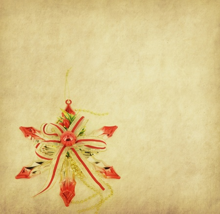 christmas decorations on paper photo