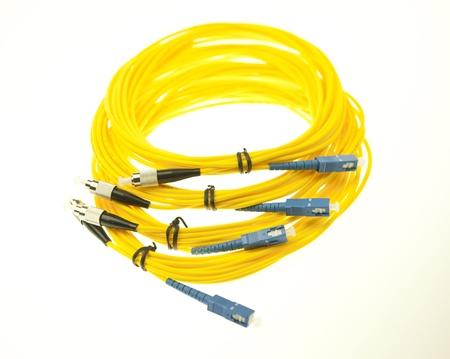 fiber cable: optic fiber cables Stock Photo