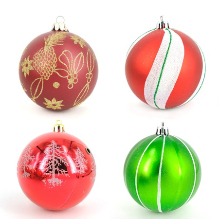 Traditional Christmas ball isolated on white background  photo