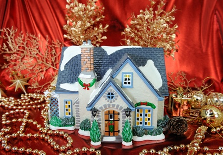 house of christmas card with Decorations  photo
