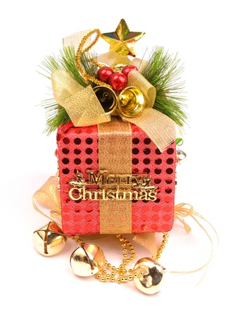Christmas gift with white background 