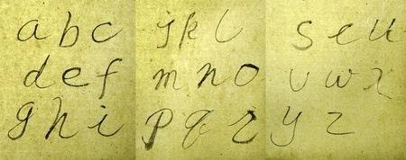 Alphabet handwriting  photo