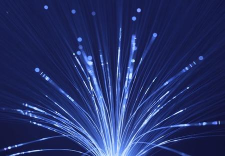 Abstract Internet technology fiber optic background Stock Photo - 11737090