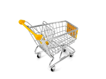 shopping carts over white background  Stock Photo - 12121582