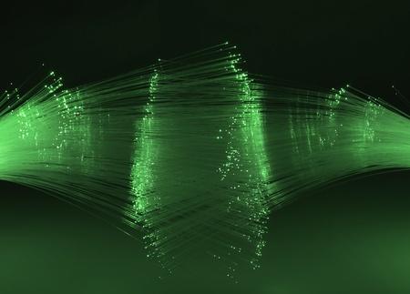 Abstract Internet technology fiber optic background  Stock Photo - 11519323