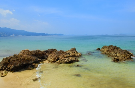 sea and rocks is a beautiful coastline Stock Photo - 12859891